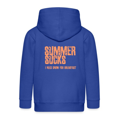 SUMMER SUCKS - Kids' Premium Zip Hoodie