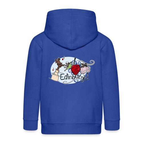 I love Edinburgh - Kids' Premium Zip Hoodie