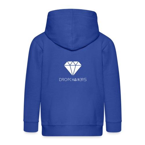 Dropchainers T-Shirt V-Ausschnitt - Kinder Premium Kapuzenjacke