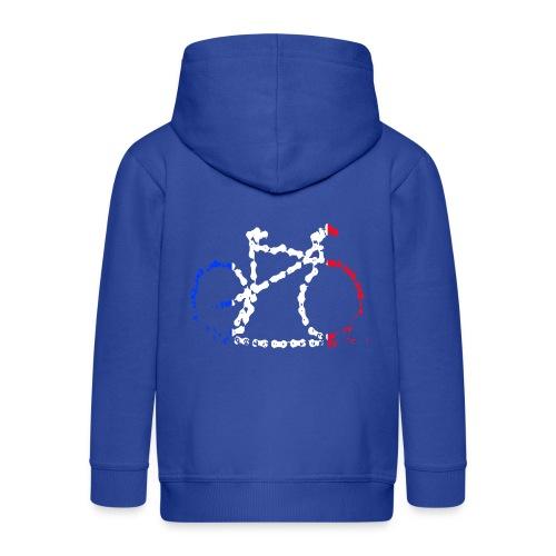 French bike chain - Kids' Premium Zip Hoodie