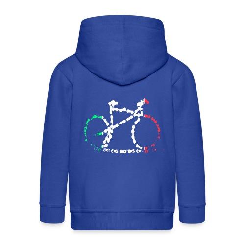 Italian Bike Chain - Kids' Premium Zip Hoodie