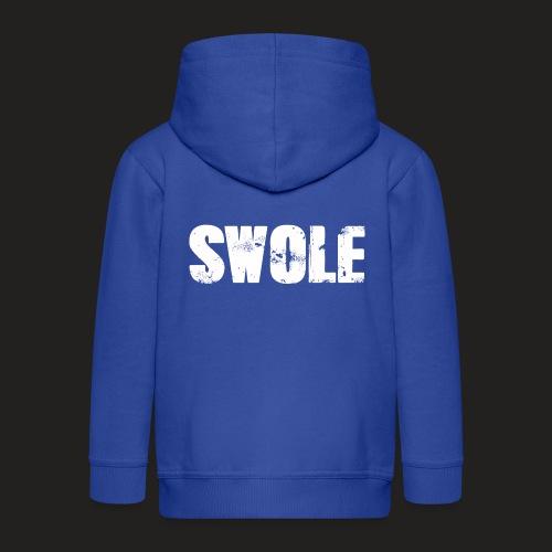 SWOLE FLAT CAP - Kids' Premium Zip Hoodie