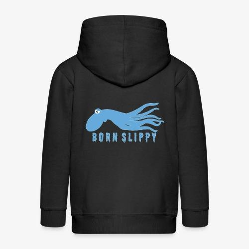 Slippy on by - Kids' Premium Zip Hoodie