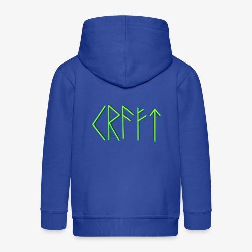 Kraft in Runenschrift - Kinder Premium Kapuzenjacke
