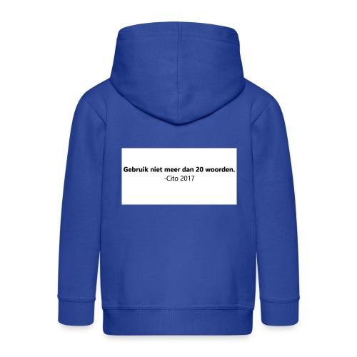 Gebruik niet meer dan 20 woorden - Kinderen Premium jas met capuchon