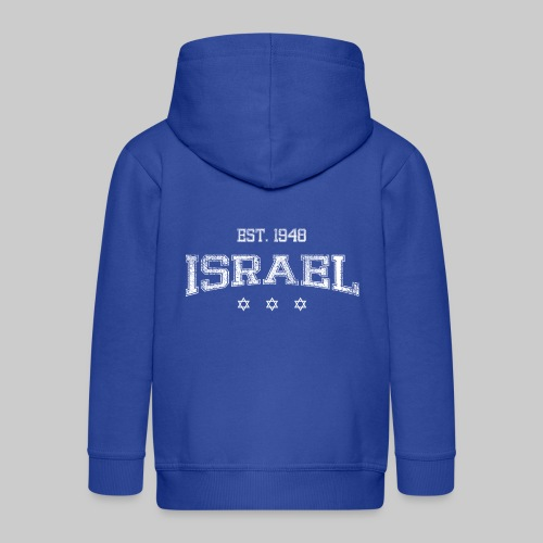 ISRAEL-white - Kids' Premium Zip Hoodie