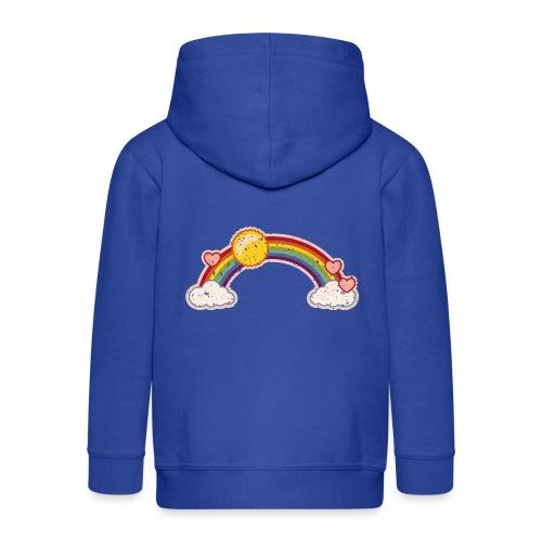 Regenbogen rainbow Wolke 7 Retro Grunge Vintage - Kids' Premium Zip Hoodie