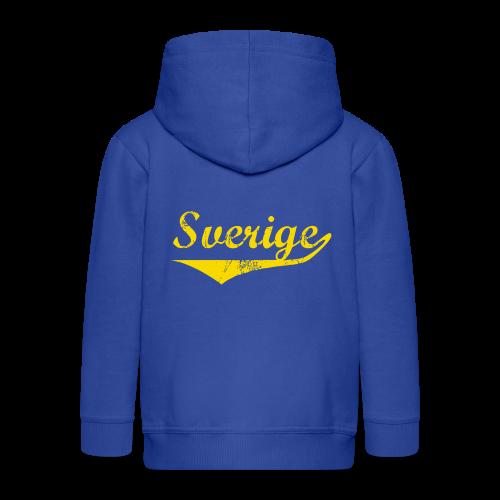 T-shirt Slim fit, Sverige distressed - Premium-Luvjacka barn