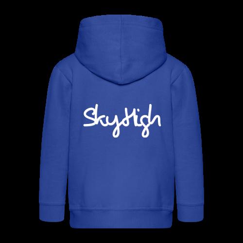 SkyHigh - Men's Premium Hoodie - White Lettering - Kids' Premium Zip Hoodie