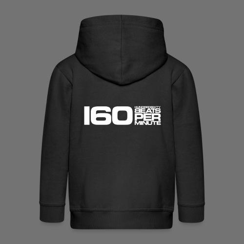 160 BPM (white long) - Kids' Premium Zip Hoodie