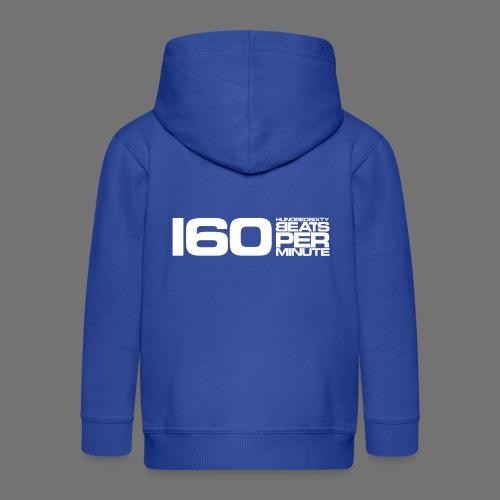 160 BPM (white long) - Kids' Premium Hooded Jacket