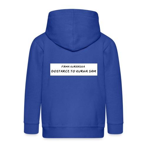 firma kurierska tyl - Rozpinana bluza dziecięca z kapturem Premium