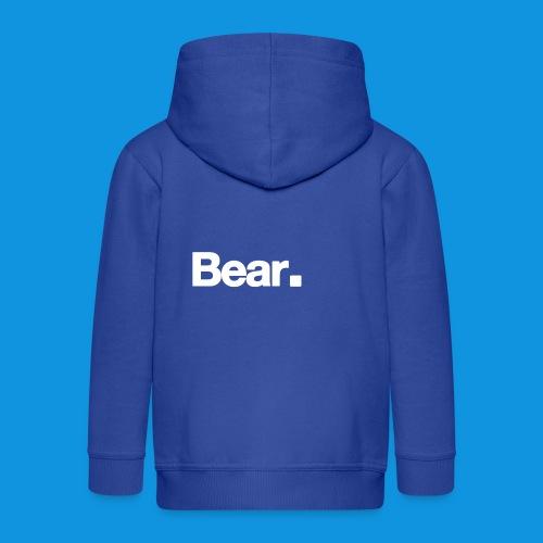 Bear. Retro Bag - Kids' Premium Zip Hoodie