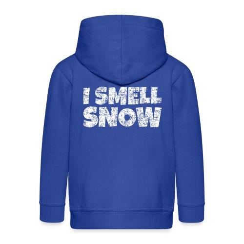 I Smell Snow Schnee, Weihnachten & Wintersport - Kinder Premium Kapuzenjacke