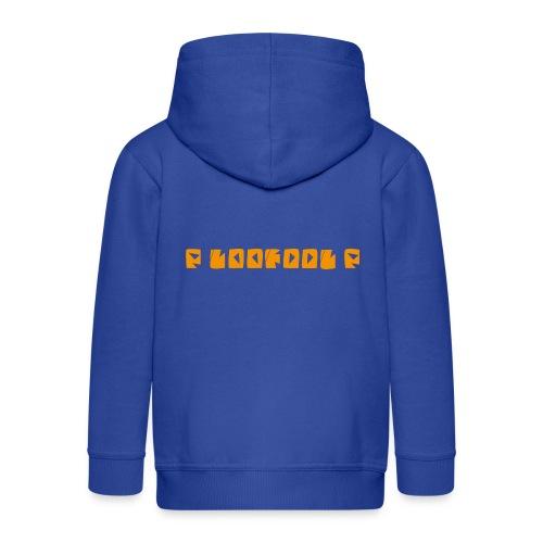 P loofool P - Orange logo - Premium Barne-hettejakke