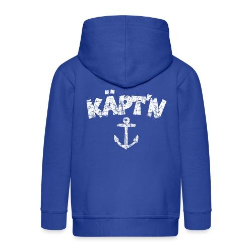 Käpt'n Anker (Vintage Weiß) Kapitän Boot & Segeln - Kinder Premium Kapuzenjacke