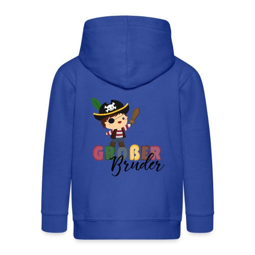 Großer Bruder Piraten - Kinder Premium Kapuzenjacke