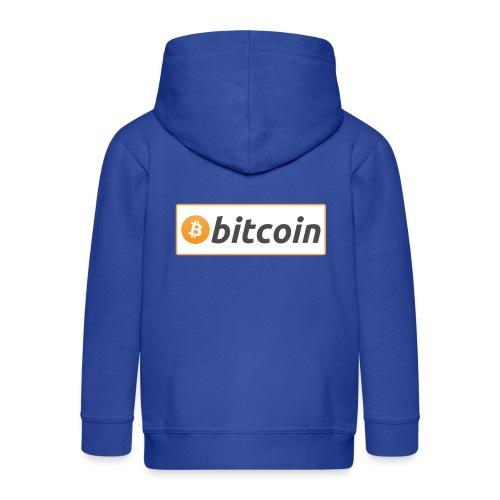 Bitcoin logo - Kids' Premium Zip Hoodie
