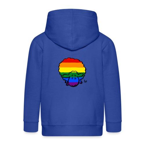 Rainbow Pride Sheep - Kids' Premium Zip Hoodie