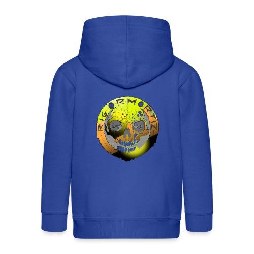 Rigormortiz Metallic Yellow Orange Design - Kids' Premium Hooded Jacket