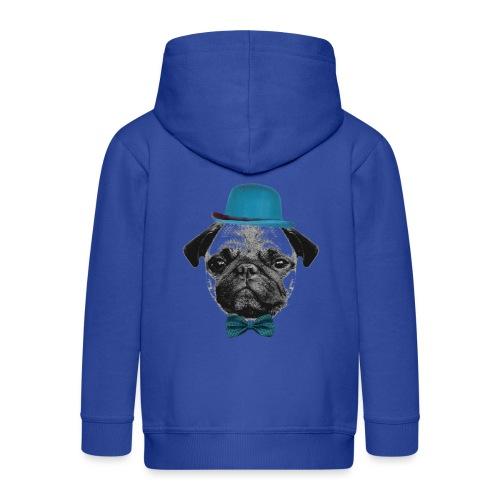 Mops Puppy - Kinder Premium Kapuzenjacke