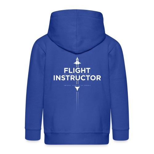 FlightInstructor white - Kinder Premium Kapuzenjacke