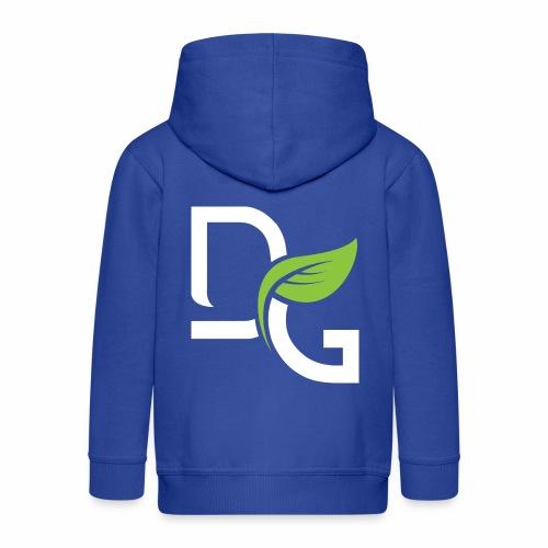 DrGreen Logo Symbol weiss grün - Kinder Premium Kapuzenjacke