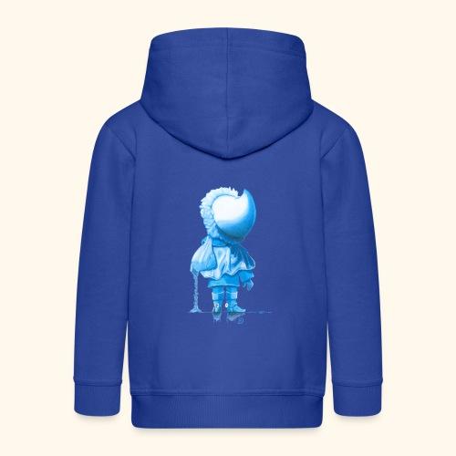Unser Sandmännchen von hinten blau - Kinder Premium Kapuzenjacke