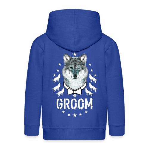 161 Wolf JGA GROOM Wolfpack Sterne - Kinder Premium Kapuzenjacke