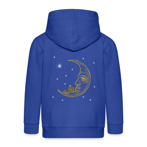 Camping On The Moon Under The Stars - Kids' Premium Zip Hoodie