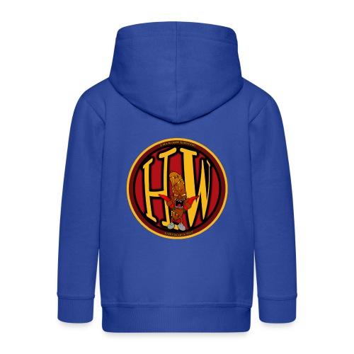 superhw stikker incl worst png - Kids' Premium Hooded Jacket