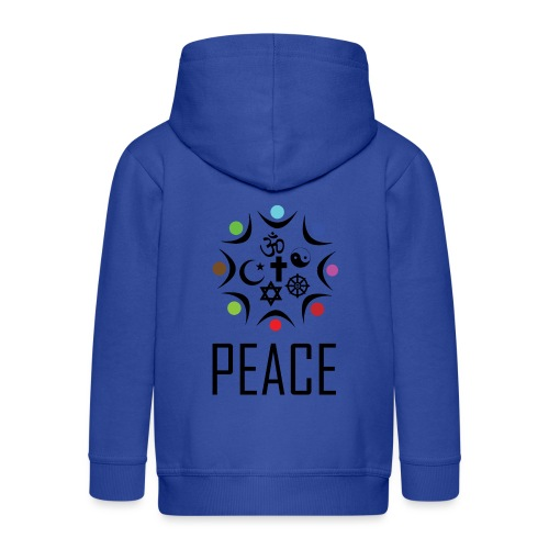 Peace for All Religions - Kids' Premium Zip Hoodie