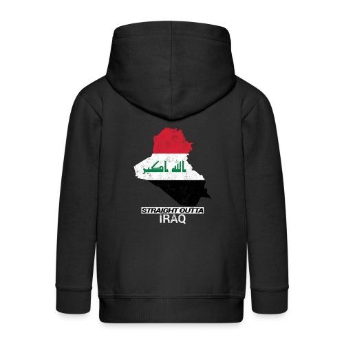 Straight Outta Iraq country map & flag - Kids' Premium Zip Hoodie