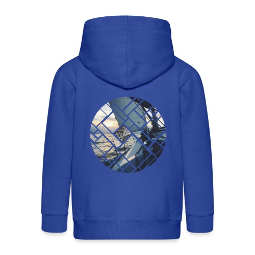 Ocean Sailing Graphic Design - Kinder Premium Kapuzenjacke
