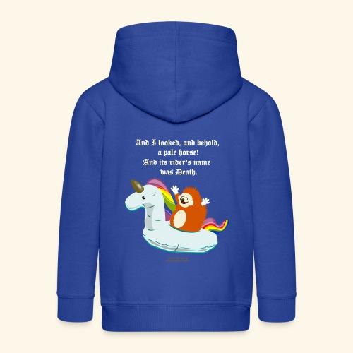 Geek T Shirt Igel, Einhorn & Johannes-Offenbarung - Kinder Premium Kapuzenjacke