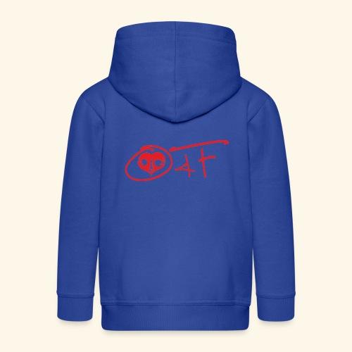 O4F ROSSO - Felpa con zip Premium per bambini