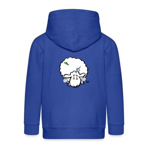 Pecore dell'albero di Natale - Felpa con zip Premium per bambini