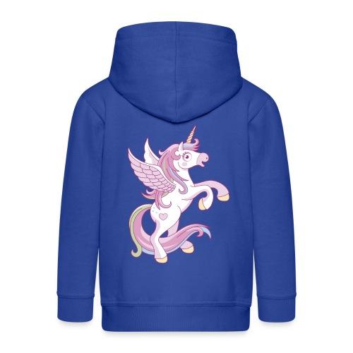 Magic Unicorn - Felpa con zip Premium per bambini