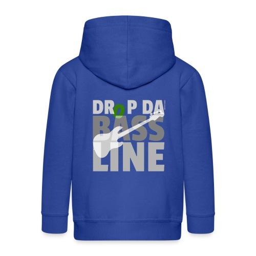 Drop da Bass Line 1 - Kinder Premium Kapuzenjacke