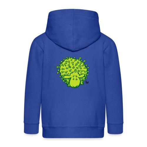Wirus owiec - Rozpinana bluza dziecięca z kapturem Premium
