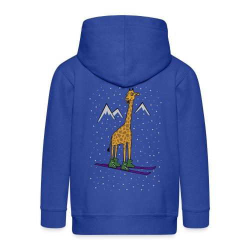 Skiraffe lol - Kids' Premium Hooded Jacket