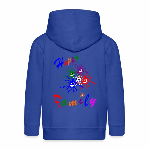 Happy Family - Kids' Premium Zip Hoodie