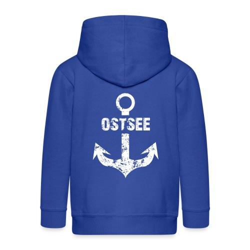 Fashionbutze Anker Ostsee weiss - Kinder Premium Kapuzenjacke
