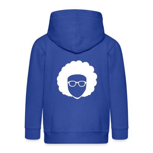 Afro Nerd - nerdy - Kids' Premium Zip Hoodie