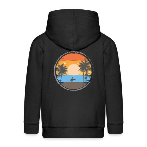 Sunset Retrô - Chaqueta con capucha premium niño