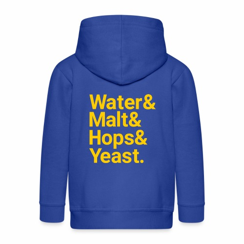 Water,Malt,Hops & Yeast - Kids' Premium Hooded Jacket