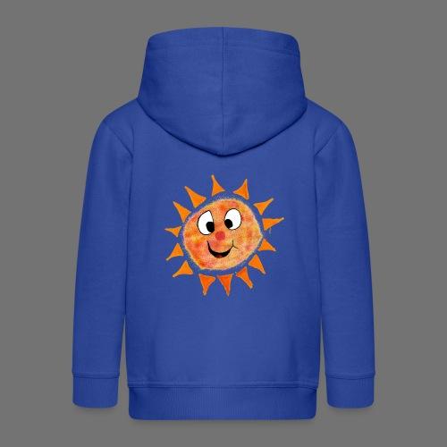 Słońce - Rozpinana bluza dziecięca z kapturem Premium