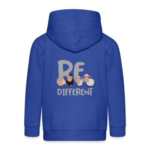 Be different Schafe: Einzigartiges schwarzes Schaf - Kinder Premium Kapuzenjacke