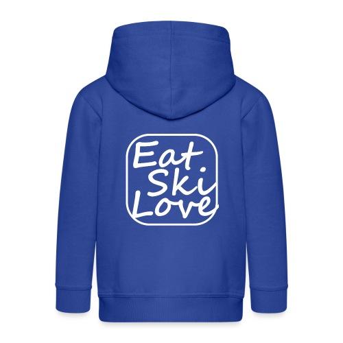 eat ski love - Kinderen Premium jas met capuchon