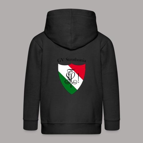 Wappen Struthonia beschriftet - Kinder Premium Kapuzenjacke